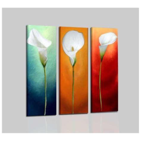 quadri moderni con fiori quadri moderni trittici con fiore calla