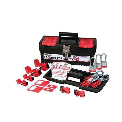 brady personal breaker lockout kit with 3 keyed alike