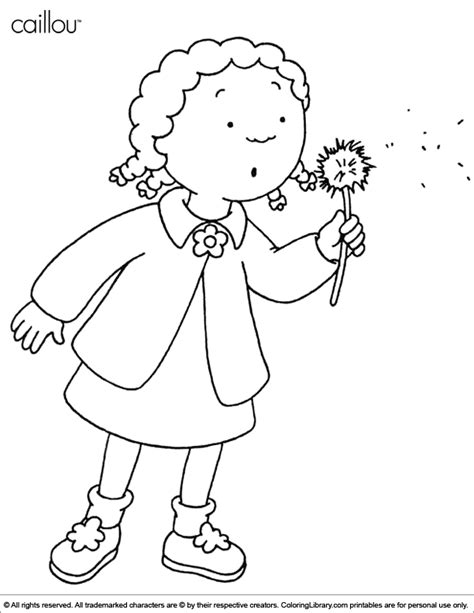 caillou coloring pages pdf caillou coloring picture coloring home