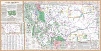 Road Map Montana by Montana Highway Map Gallery
