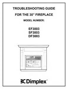 dimplex indoor fireplace sf3003 user s guide