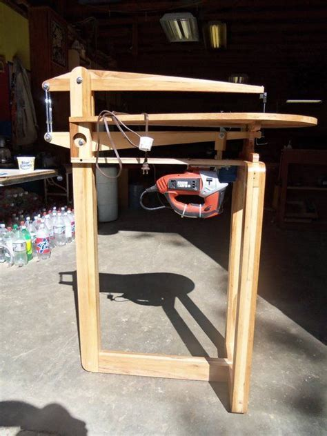 shop made woodworking tools shop made 25 quot scroll saw by william lumberjocks