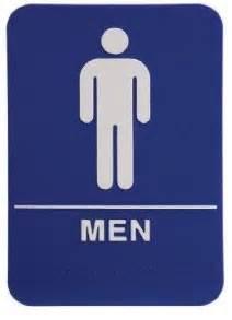 Bathroom Sign Blue Ada Restroom Sign Only Braille Blue Bathroom Ebay