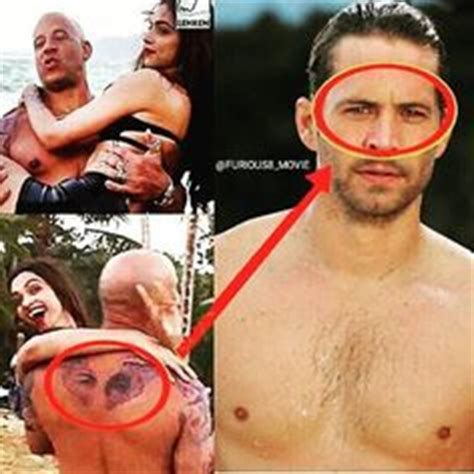 does vin diesel have tattoos paulwalker of his s name meadow go