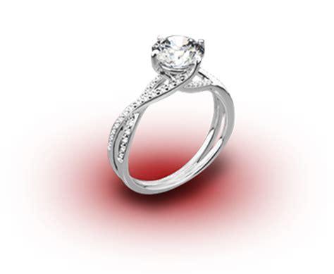 wedding ring above below engagement ring