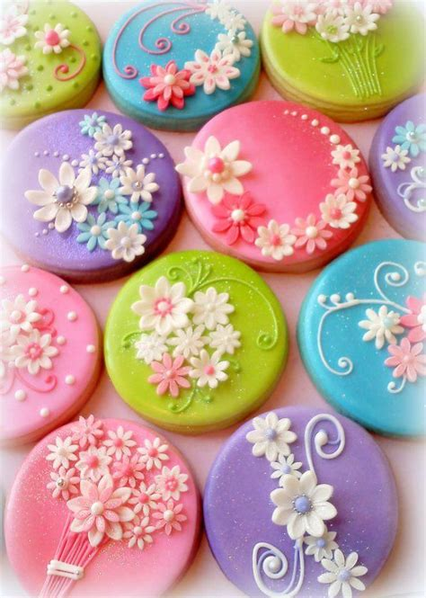 galletas decoradas cookies demasiado hermosas para comerlas galletas decoradas coockies fondant flower