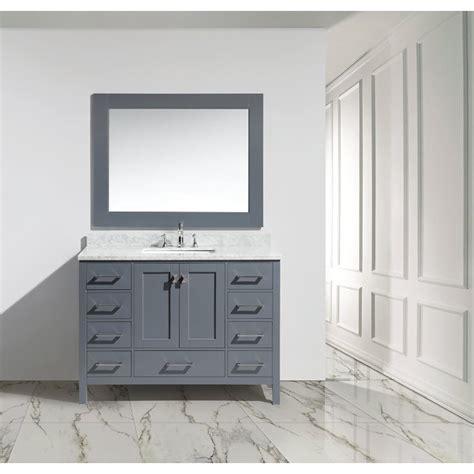 design element bathroom vanities design element london 48 quot single sink vanity set gray