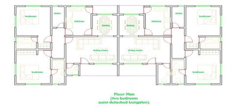 semi detached bungalow house plans 3 bedroom semi detached house plan in nigeria nrtradiant com