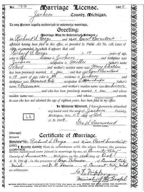 St Joseph County Indiana Marriage Records Crego Richard S Sources
