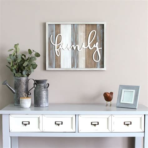 wall home decor stratton home decor rustic quot family quot wood wall decor