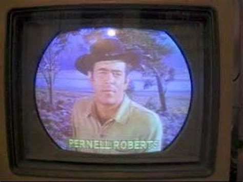 color tv show rca color tv set from 1956 with bonanza clip