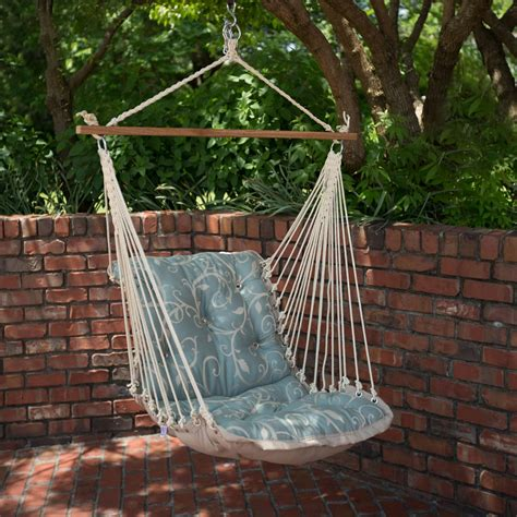 single porch swing cabaret blue haze tufted single porch swing dfohome