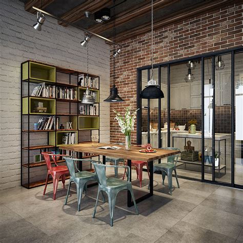 industrial home design uk come arredare una sala da pranzo in stile industriale