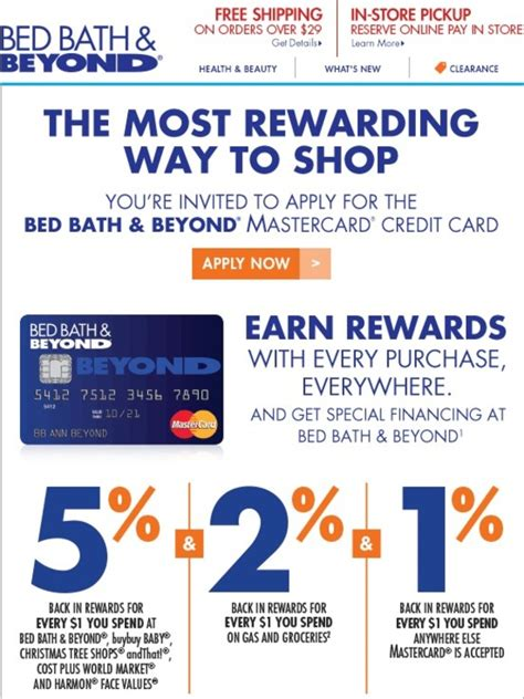 bedbathandbeyond credit card bed bath and beyond earn rewards for all your purchases