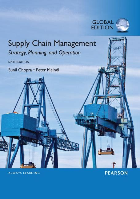 Mba In Global Supply Chain Management by Recommended Reading Supply Chain Management Chopra And