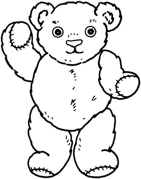 coloring page teddy teddy coloring page preschool songs