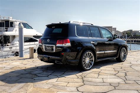 lifted lexus lx 570 wald international lexus lx 570 black bison edition goes