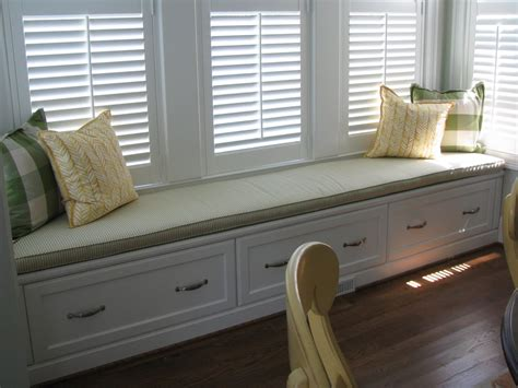 window with bench window seat cushions casual cottage