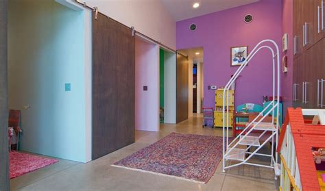 Purple Bedroom For Kids by 50 Ways To Use Interior Sliding Barn Doors In Your Home