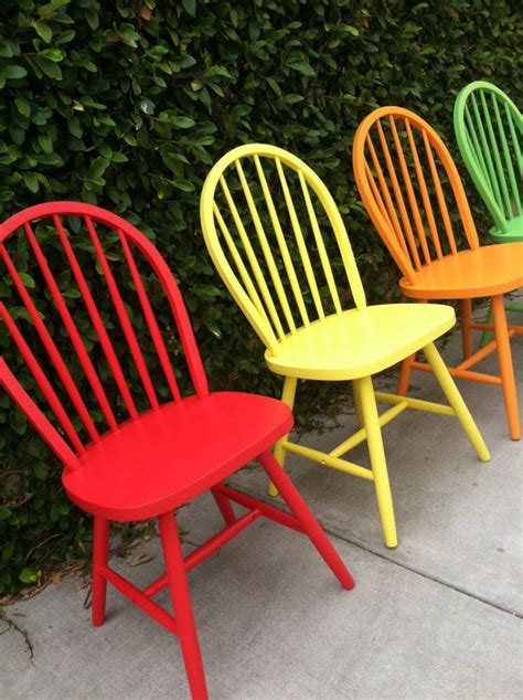 set of 4 vintage spindle chairs painted wood by