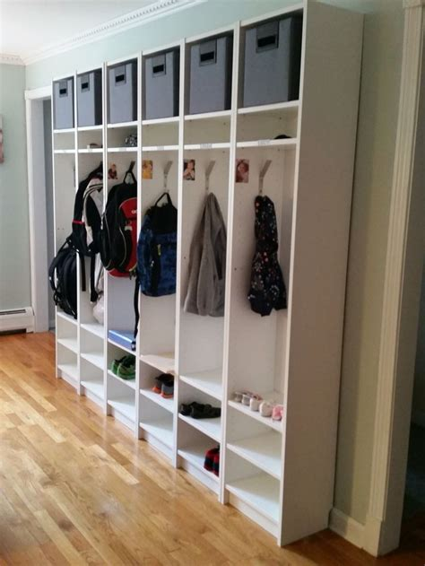 hack mud ikea hack billy bookcases turned cubbies motherwood