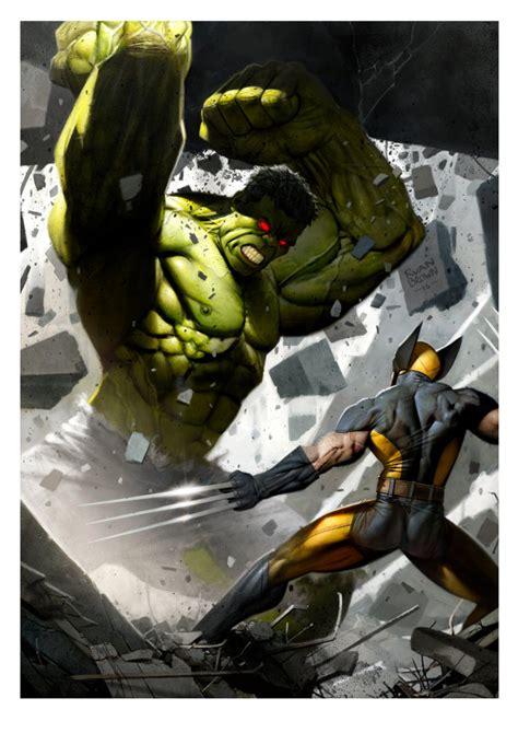 imagenes de hulk vs wolverine en real hulk vs wolverine by ryanbrown colour on deviantart