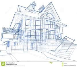 blue prints of houses house architecture blueprint stock image image 5590761