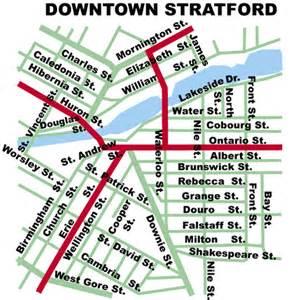 stratford ontario canada map stratford ontario