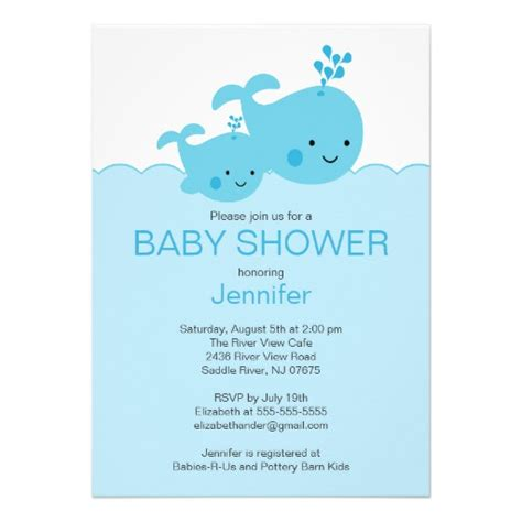 whale baby shower invitations baby whale baby shower invitations 5 quot x 7 quot invitation card zazzle