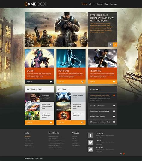 free wordpress themes video games designing graphics programming reviews and resources