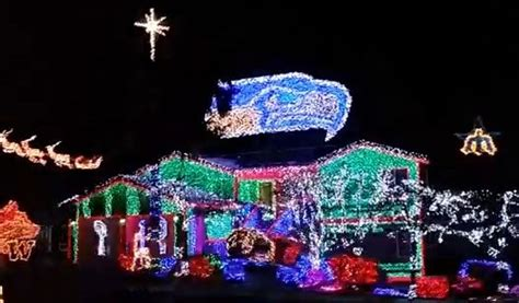 video wild seattle sports themed christmas light display