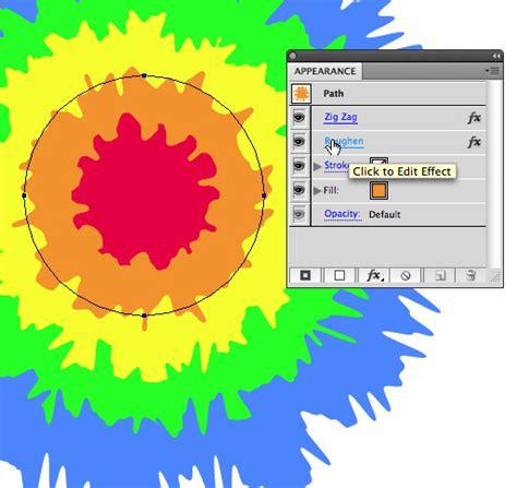 layout editor draw circle create vector tie dye using illustrator s distort effects