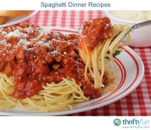 spaghetti dinner recipes thriftyfun