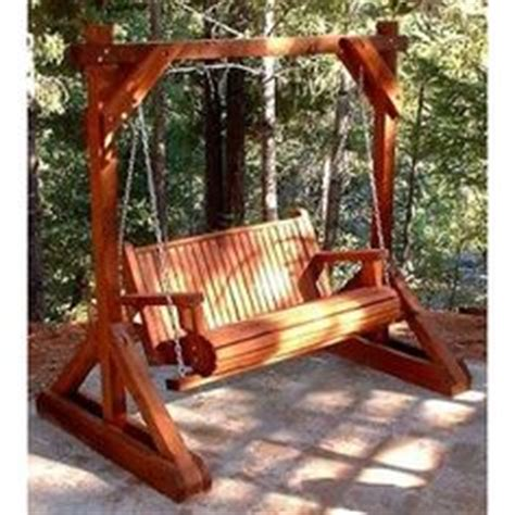 how to build a freestanding porch swing 1000 images about backyard on pinterest above ground