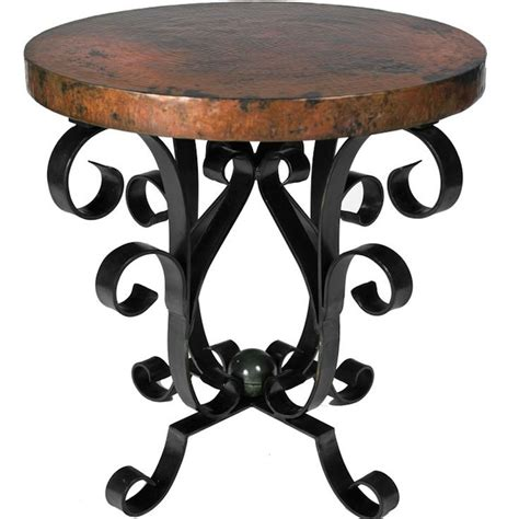 Wrought Iron Accent Tables | accent old world style decor with iron tables