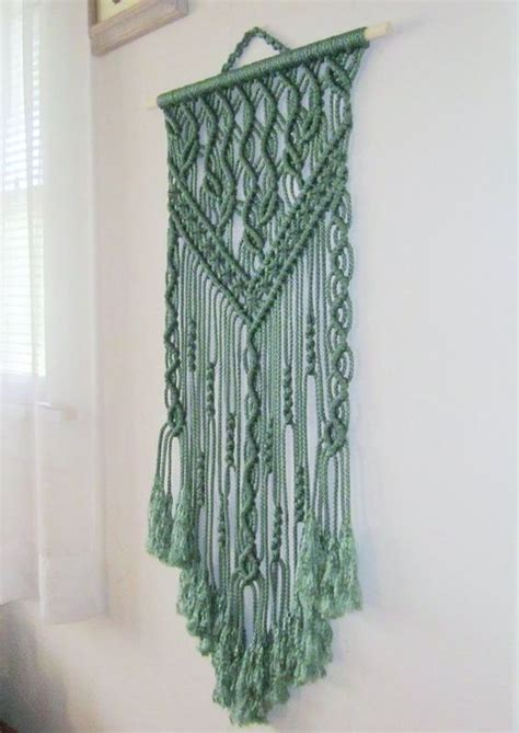 macrame home decor macrame wall hanging spring handmade macrame home