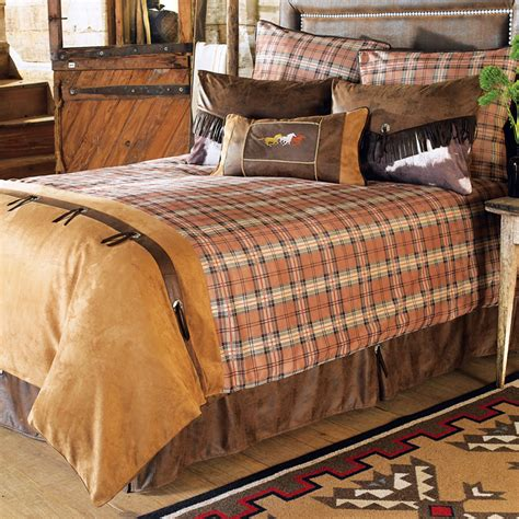 western bedding sets queen carjb1726 saddleback western 7 piece bedding set