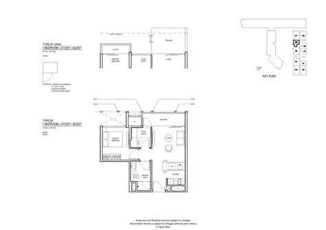 robertson 100 floor plan 1 bedroom study up robertson quay