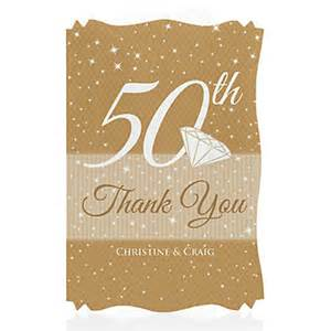50th anniversary personalized wedding anniversary thank you cards bigdotofhappiness