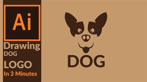 illustrator tutorial dog how to draw a dog logo in 3 minutes in adobe illustrator