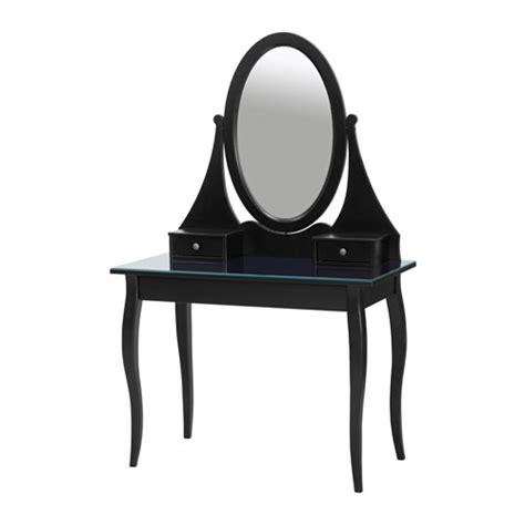 Black Vanity Table Ikea Hemnes Dressing Table With Mirror Black Ikea