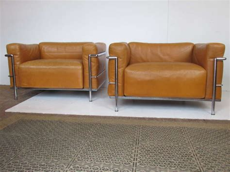lc3 grand modele armchair le corbusier lc3 grand modele armchairs for cassina at 1stdibs