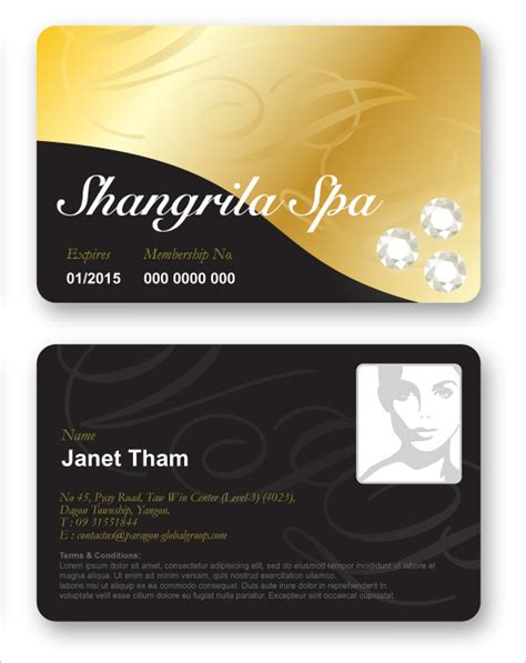 membership id card template 35 membership card designs templates free premium
