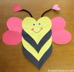 valentines crafts for bee mine craft for from abcs to acts