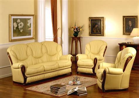 italian sofa set daniela full leather classic sofa set made in italy