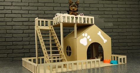 how to make a small dog house how to make amazing puppy dog house from cardboard sia magazine