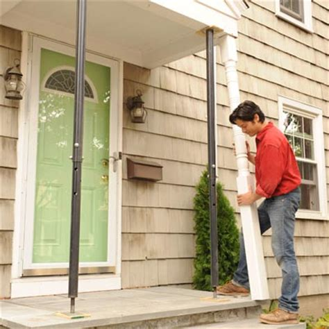 Replacing Porch Posts reinstall the posts how to replace porch posts this house