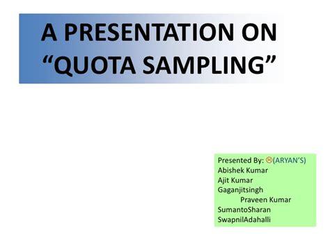 quota design definition quota sling