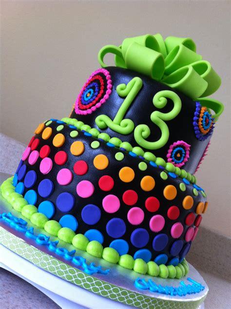psychadelic rainbow birthday cake lolos cakes sweets