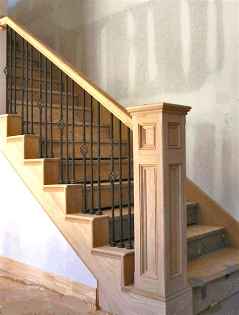 metal banister rail stairways